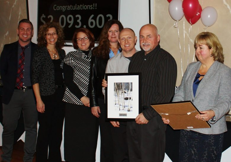 Electrolab employees receive the Outstanding Commitment to United Way of Quinte 2014