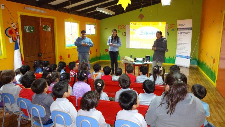 Children in an Ultima Esperanza Special Language School classroom