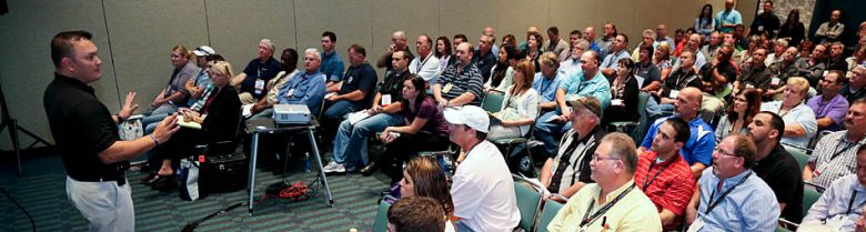 Tim Page-Bottorff teaches a classroom of safety professionals