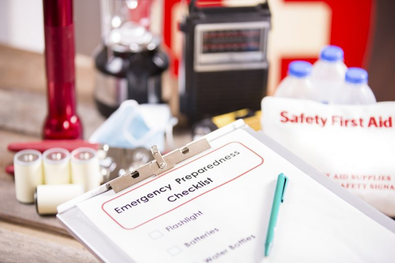 An emergency preparation checklist