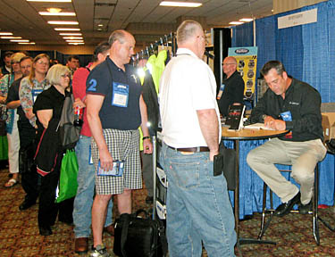 SafeStart senior consultant Kevin Cobb at a book signing