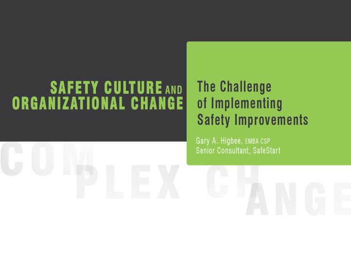 Safety culture and organizational change