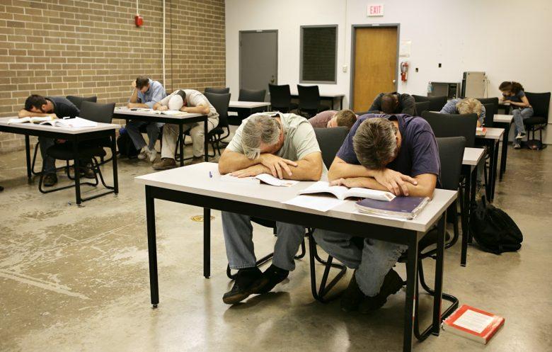 Entire training class asleep on their desks