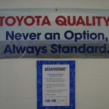 Toyota Quality and SafeStart poster
