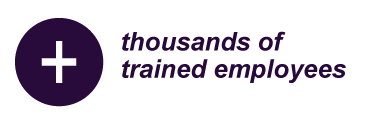 Thousands of trained employees