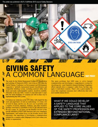 Giving Safety a Common Language
