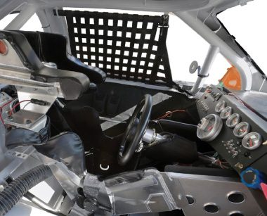 Interior of a race car