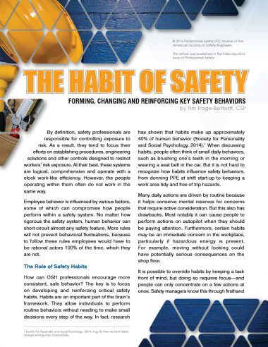 The Habit of Safety