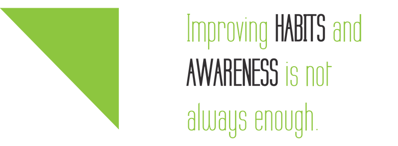 Improving habits and awareness is not always enough.