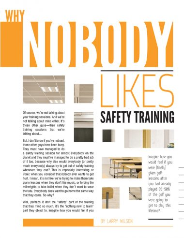 Why Nobody Likes Safety Training Cover