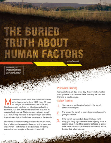The Buried Truth About Human Factors