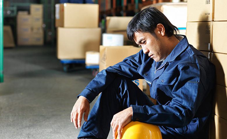Worker feeling down at work