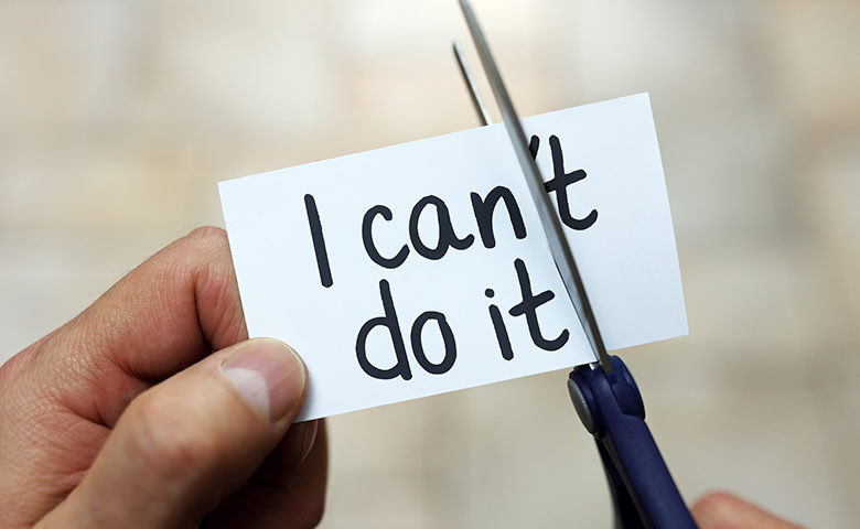 Motivational image turning I can't do it into I can do it