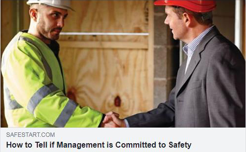 How to tell if management is committed to safety
