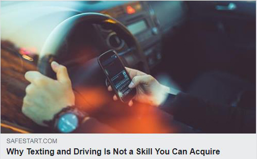 Why texting and driving is not a skill you can acquire