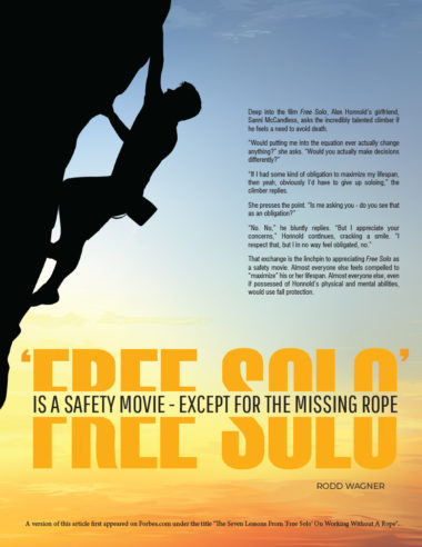 Free Solo is a Safety Movie
