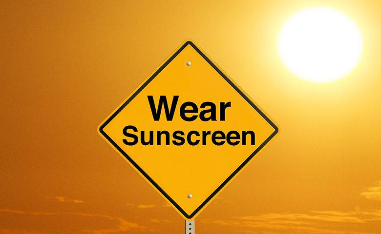 Wear Sunscreen Sign