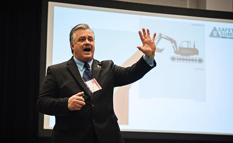 Joe Tantarelli delivering Buried Alive presentation