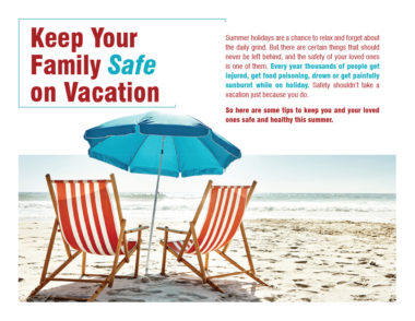 Summer Safety Brochure Cover