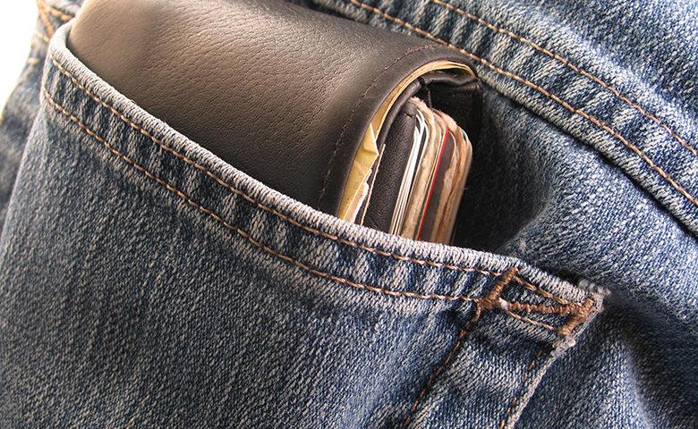 hick Leather Wallet in Back Pocket