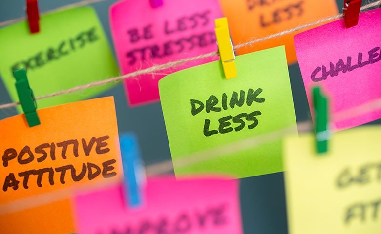 Sticky notes to change habits