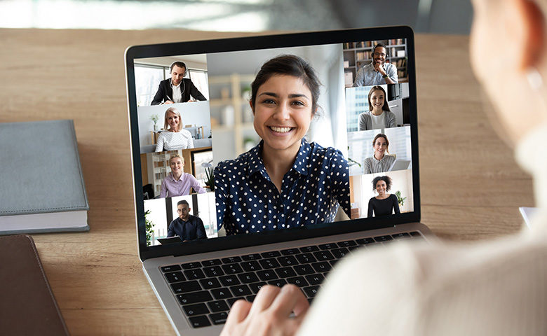 Multiple participants in online meeting