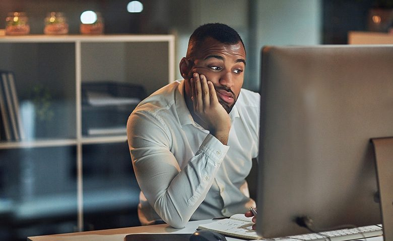 Employee bored completing training online