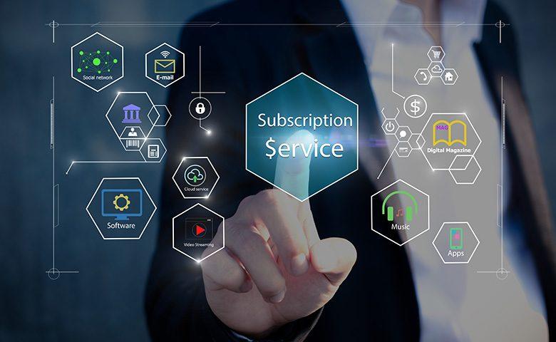 Subscription business model concepts.